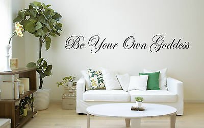 Be Your Own Goddess Wall Art Vinyl Sticker decal window Wiccan Pagan new age