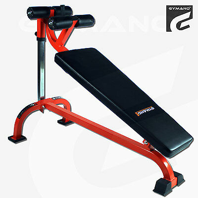 Gymano | Pro Decline Crunch Bench | Adjustable, Sit Up, Abs, Core & Commercial