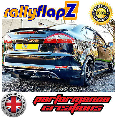 Mud Flaps to fit FORD MONDEO MK4 (07-14) Mudflaps rallyflapZ Black 4mm PVC Qty 4