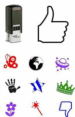 Loyalty Card Self Inking Rubber Stamp Butterfly Flower Crown Cafe Shop School
