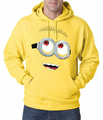 Despicable Me Minion Big Face Adult Hoodie New