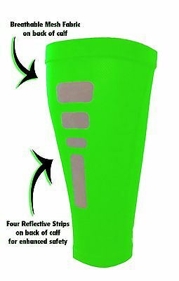 EliteTek Calf Compression / Circulation Leg Sleeves (Pair) - Reflective Markings