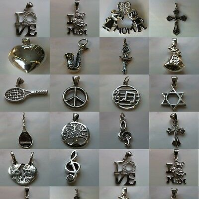 Beautiful and Unique 100% Solid 925 Sterling Silver Pendants - Various Designs