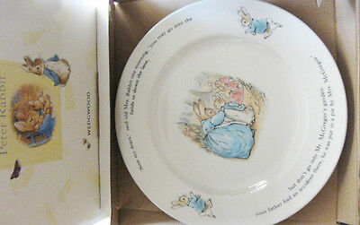Collectable Peter Rabbit Wedgwood Child Dinner Lunch Plate  10  1/4 - New in Box