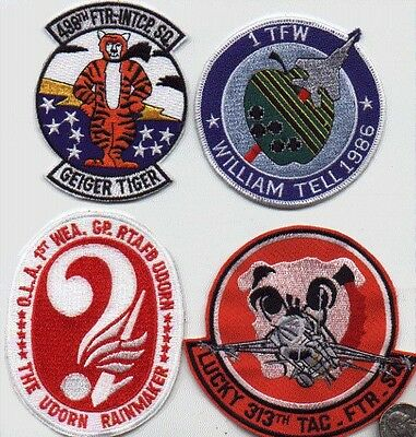 US AIR FORCE SQUADRON 1 PATCH 1st Tactial FIGHTER WING WILLIAM TELL USAF 1986