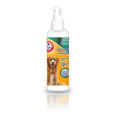 ARM & HAMMER Dog Oral Mouth Hygiene Care DENTAL SPRAY Bad Breath Tartar 4oz