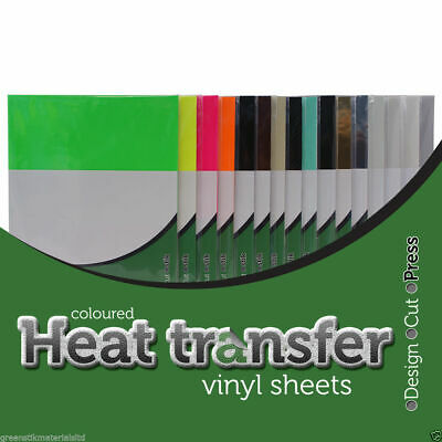 5 x Poliflex Premium Heat Transfer T Shirt Apparel Garment Textile Vinyl Sheets