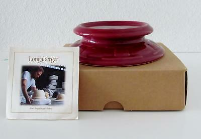 Longaberger Woven Traditions Candle Holder Paprika  New in Box