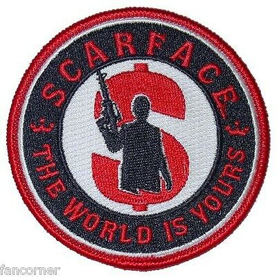 Scarface ecusson officiel the world is yours scarface official embroidered patch