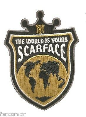 Scarface ecusson officiel Tony montana blason world scarface official patch