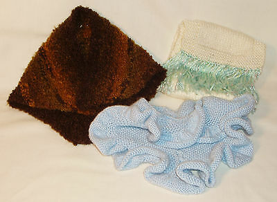Handmade Knitted American Girl Clothes Accessories 3 Shawl Set   3+ years