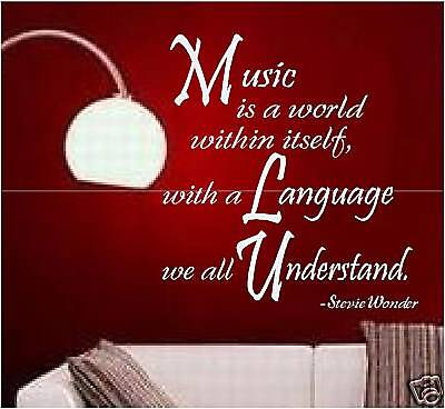 Wall Art Sticker Decal Decor Removable Vinyl Quote MUSIC
