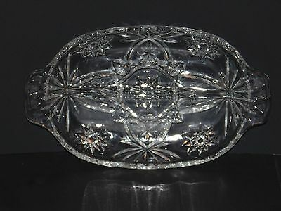 """EAPG Pressed Glass Antique/Vintage Divided """"Star of David"""" NUT/CANDY/RELISH Dish"""