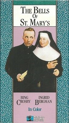 NEW VHS The Bells of St Mary's COLORIZED: Bing Crosby Ingrid Bergman H Travers