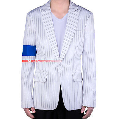 Michael Jackson Costume Smooth Criminal Suit Jacket Armband Clothing - Free Tie