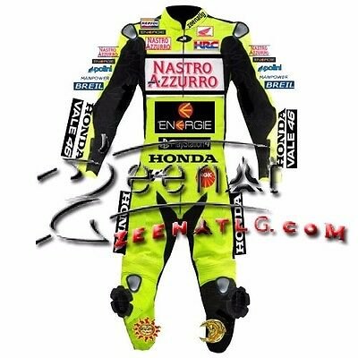 Valentino rossi  Leather motorbike racing Suit CE Approved 2015