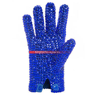 Michael Jackson Costume - Ultimate Collection Diamond Glove - Blue