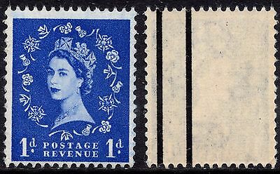 QEII 1958 1d Ultramarine 2nd Graphite Wilding Issue SG588a Misplaced - Two Lines