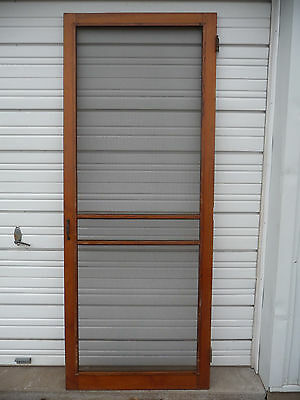 Antique Victorian Screen Door with Hardware -C. 1895 Fir Architectural Salvage