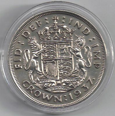 GB - UK 1937 George VI 1 Crown Coronation Uncirculated