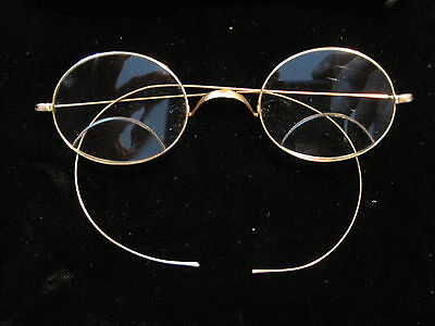 Vintage 14K STOCO Solid Gold Eyeglasses/Spectacles W/Case  Has 2 Lens/ Bifocals
