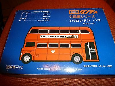TOMICA - F19 LONDON BUS Box only