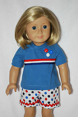 """Doll Clothes fit 18 """"American Girl dolls handmade in the USA. by Grandma Quality"""