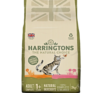 HARRINGTONS CAT - 2kg - Adult Dry Pet Crunchy Food Biscuit Treat Feed kg PawMits