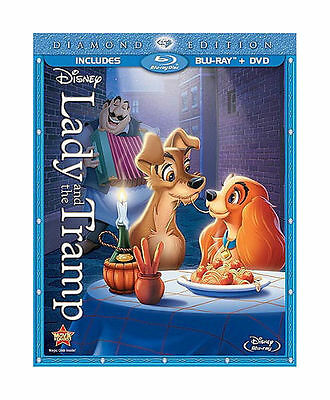 LADY AND THE TRAMP DIAMOND EDITION NEW DVD PLUS BLU RAY