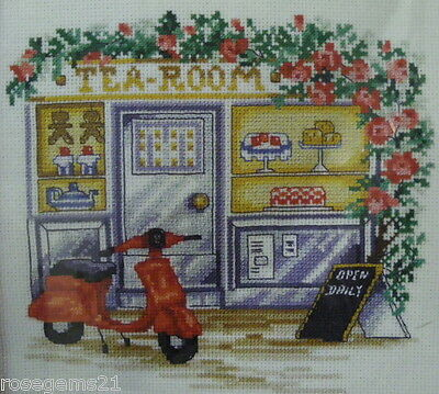 TEA ROOM - Counted CROSS Stitch KIT (New) from PERMIN of COPENHAGEN