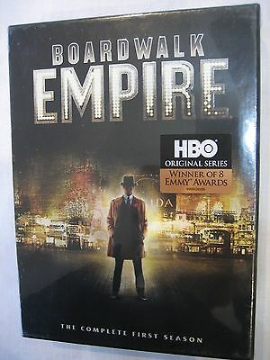 Boardwalk Empire: The Complete First Season (DVD, 2012, 5-Disc Set) NEW!!