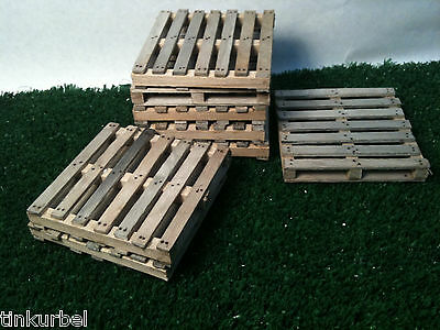 Miniature Weathered Wood Shipping Pallet Dollhouse Train Room Box 1:12 Scale