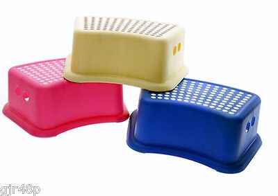 Children's Kids Step Rubber Grip Non Slip Utility Stool Toilet Step Up Aid Play