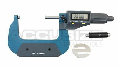 """2-3""""x0.00005"""" 2 Key Electronic Digital Outside Micrometer with Output #MD71-0003"""