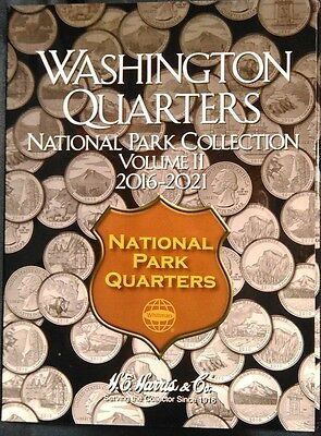 HE Harris National Parks Quarters Volume #2, 2016-2021 Coin Folder Album Book