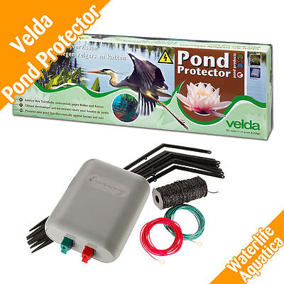 Velda Electric Fence Koi Fish Pond Protector Kit Stops Scares Herons Birds Cats
