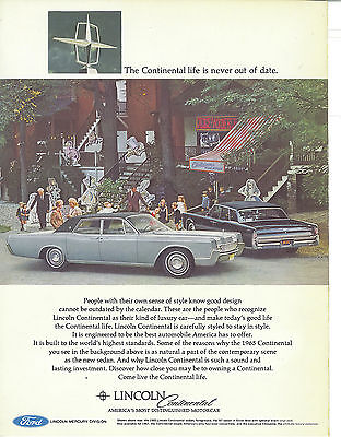 Lincoln Continental 1967 Vintage Print Ad