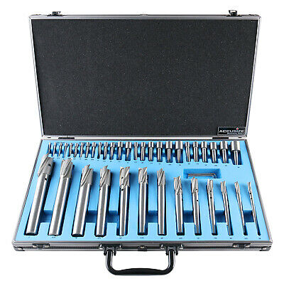 39 Pcs/Set HSS Interchangeable Pilot Counterbore Set in Fitted Box, #500S-A000