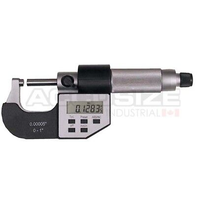 """0-1"""" x 0.00005"""" Digital Outside Micrometer, 5 Key in Fitted Case, #AC20-1022"""