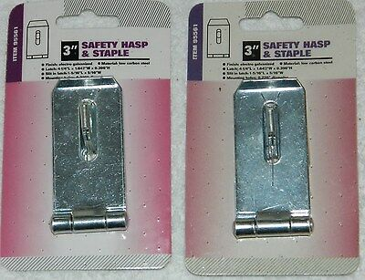 """NEW Lot of 2 HARBOR FREIGHT Brand 3"""" Safety Hasp & Staple # 95561"""