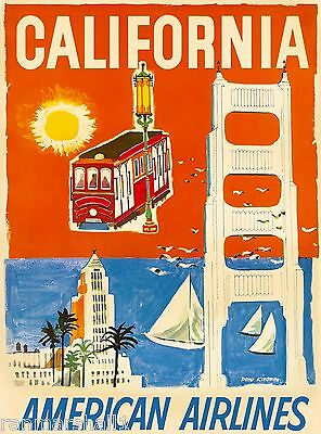 Los Angeles Caifornia United States America Vintage Travel Advertisement Poster