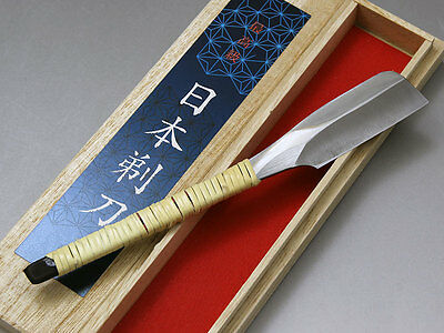 F/S Japanese Straight Razor KAMISORI With Wooden Box Hand Made  In Japan