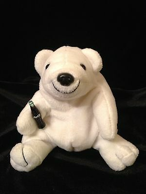 Polar Bear holding a bottle of Cocoa-Cola - Plush Beanie Filled Collectable