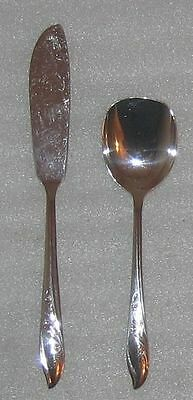 SPRINGTIME SILVERPLATE FLATWARE 1957 * MASTER BUTTER & SUGAR * 1847 ROGERS IS