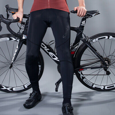 RockBros Cycling Tights Long Pants Sport Reflective Trousers for Man Black