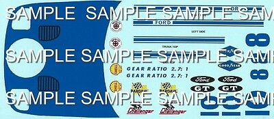 Repro 1/25 K&B Ford GT Decal Set