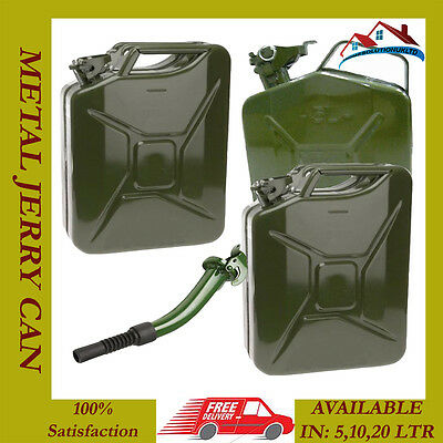 New 5 10 20 L Jerry Military Can Fuel Oil Water Petrol Diesel Storage Cans Spout