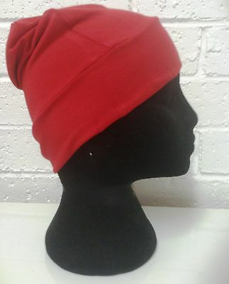 hijab cap red, chemo cap, chemotherapy cap, cancer cap