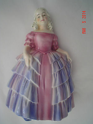 KATZHUTTE HERTWIG THURINGIA  GIRL HPAINTED  ART DECO 1920'S GERMAN GERMANY