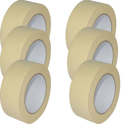 Quality Masking Tape 50mm X 50m Indoor/Outdoor General Purpose Decorating NEW